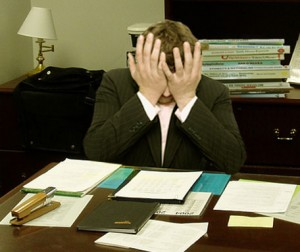 Stressed entrepreneur photo via Wikipedia